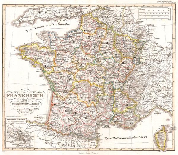 Frankreich und Umgebungen von Paris.