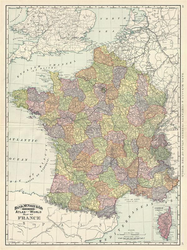 Map of France. - Main View