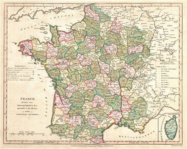 France, Divided into Departments, etc.  agreeable to the Decrees of the National Assembly.