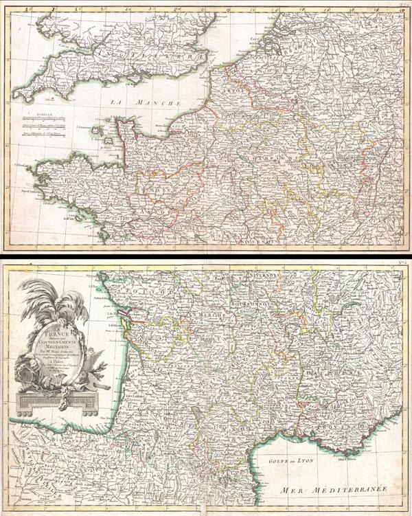 La France divisee par Gouvernements Militaires.