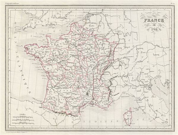 Map Of France In 1789.France En 1789 Geographicus Rare Antique Maps