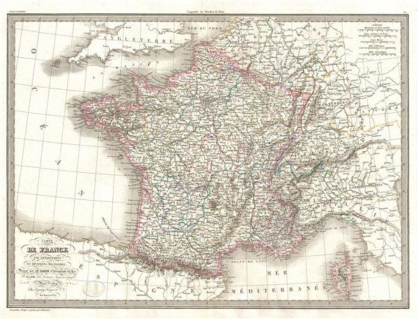 Carte de France par departemens et divisions militaires.
