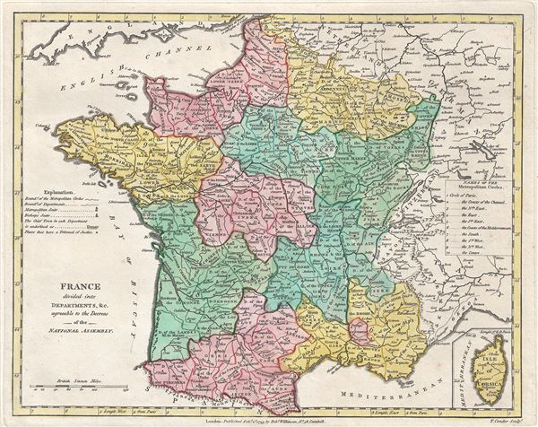 France divided into Departments, etc. agreeable to the Decrees of the National Assembly. - Main View