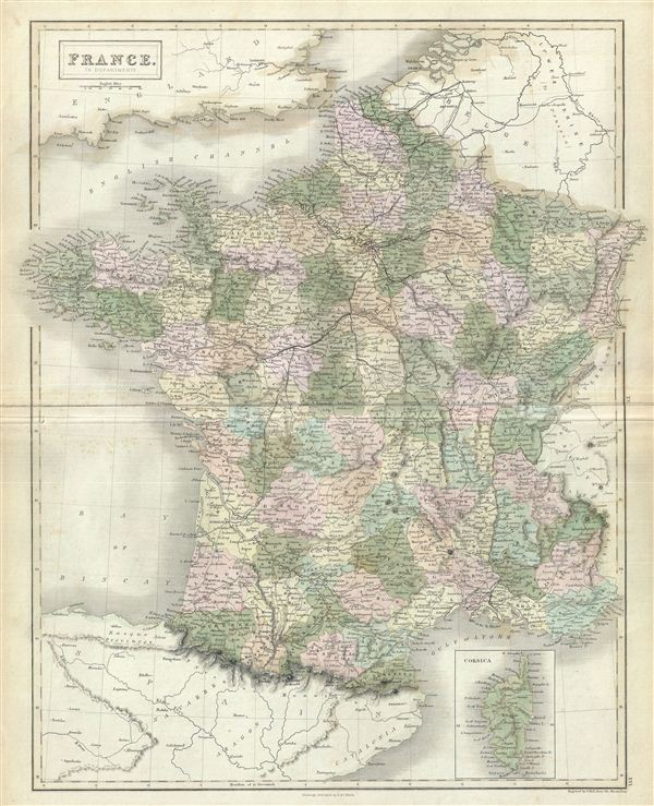 France in Departments. - Main View