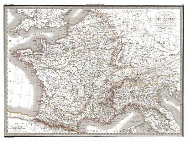 Carte des Gaules.