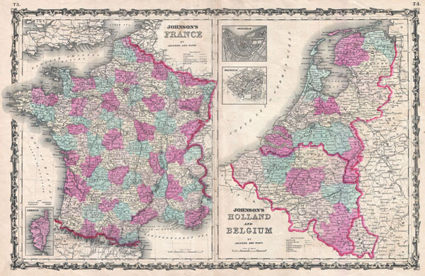 Johnson's France. / Johnson's Holland and Belgium.