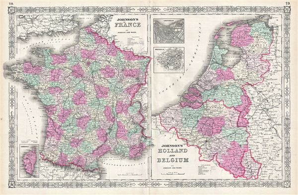 Johnson's France.  Johnson's Holland and Belgium. - Main View