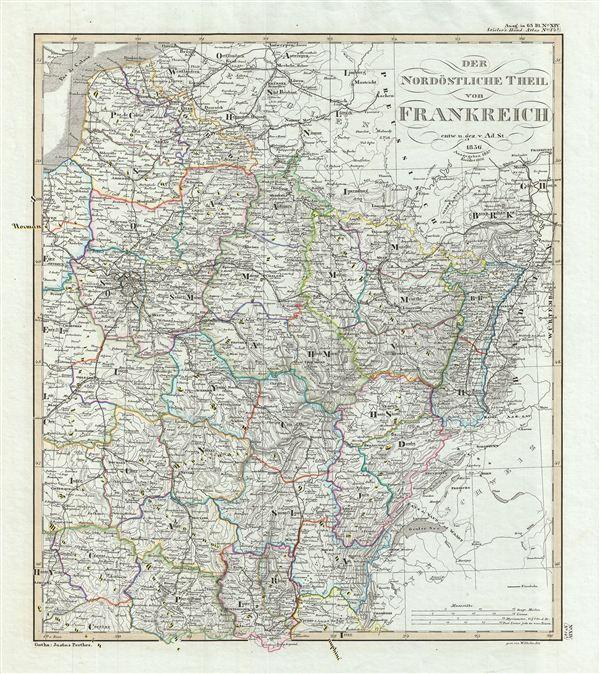Der Nordöstliche Teil von Frankreich.