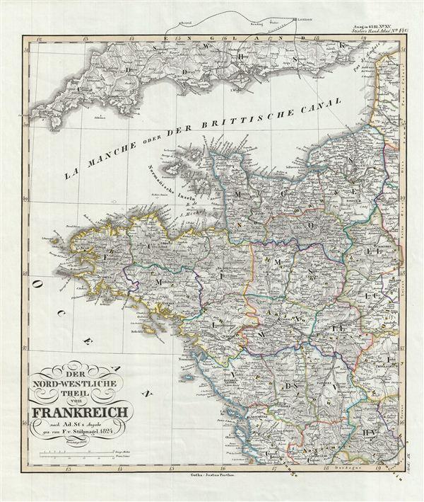 Der Nord-Westliche Teil von Frankreich.