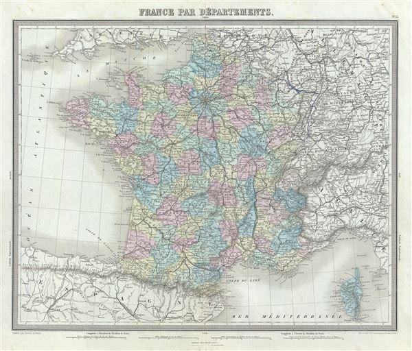 France Par Departments. - Main View