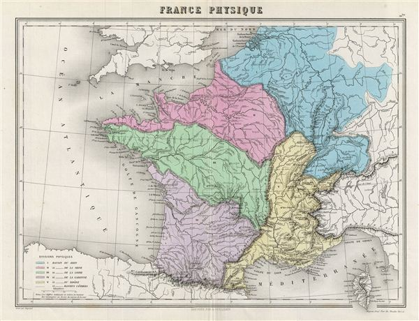 France Physique.: Geographicus Rare Antique Maps