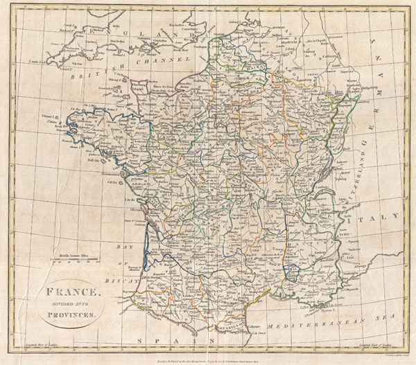 France, Divided into Provinces.