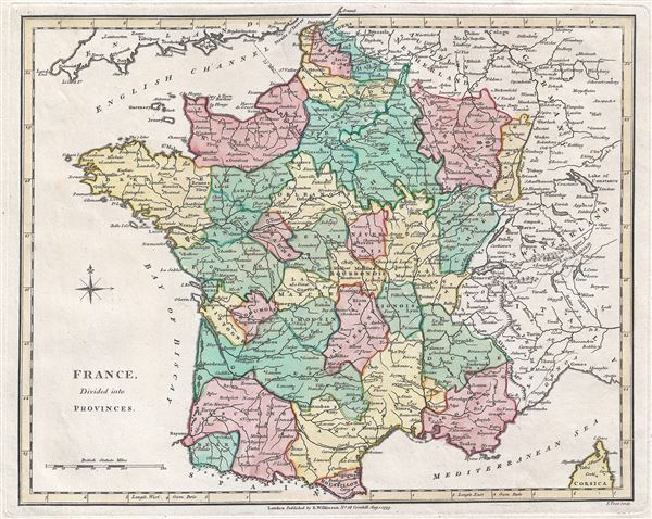 France Divided Into Provinces Geographicus Rare Antique Maps - France provinces map