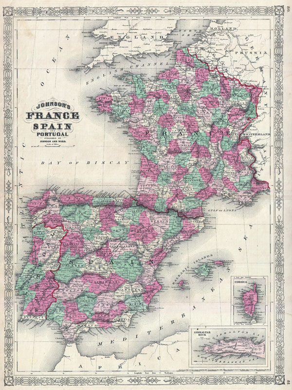 Johnson's France, Spain and Portugal. - Main View