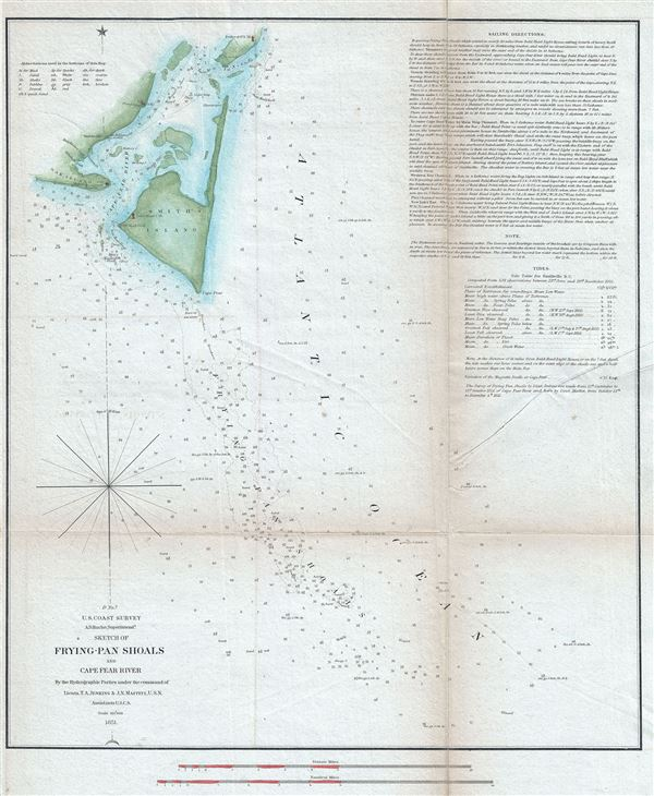 Sketch of Frying-Pan Shoals and Cape Fear River. - Main View