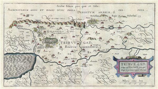 Tribus Gad nempe, ca Terrae Sancte pars, quae obtigit in partitione regionis tribui Gad.