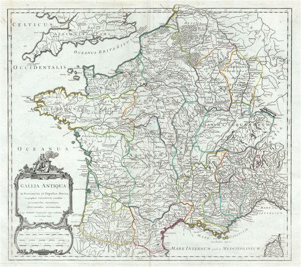 Gallia Antiqua in Provincias et Populos divisa.
