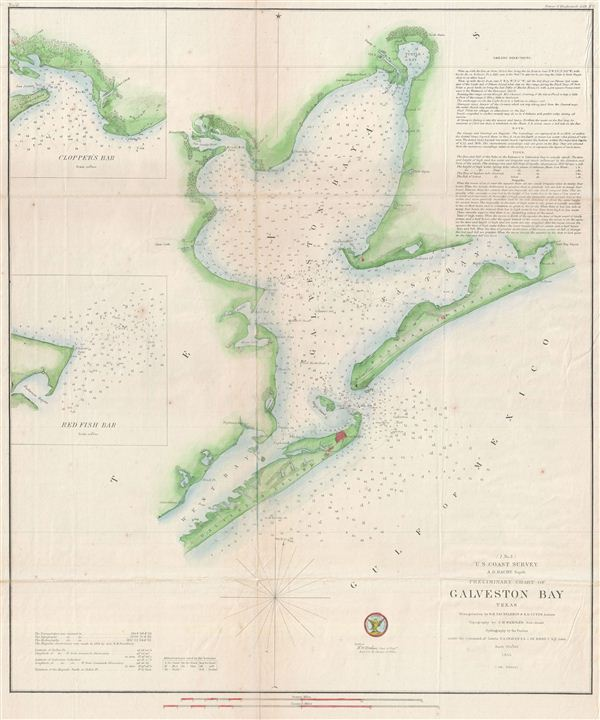 (I No. 3) Preliminary Chart of Galveston Bay Texas.