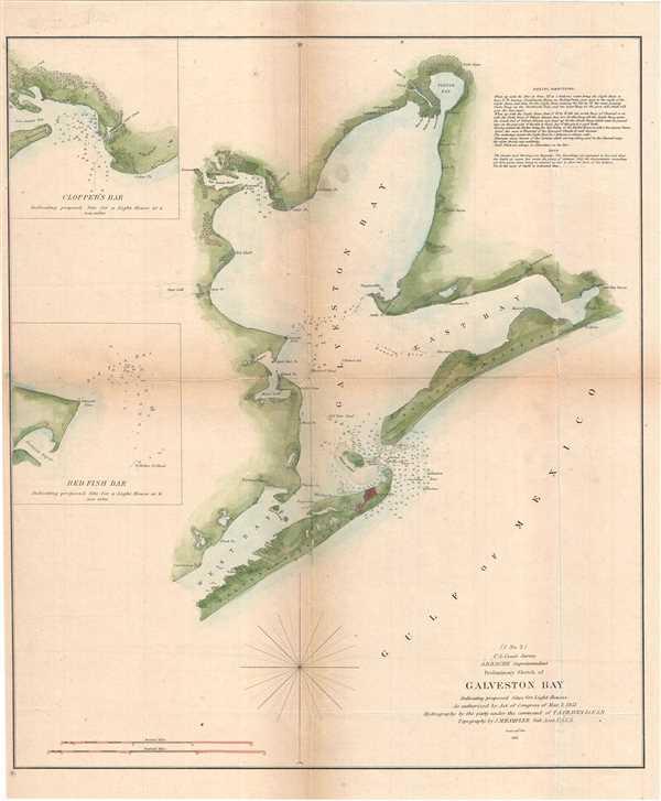 (I No. 2) Preliminary Sketch of Galveston Bay. - Main View