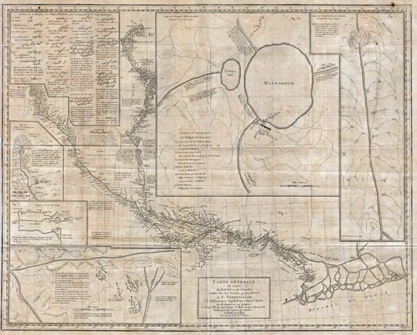 Carte Generale du Cours du Gange et du Gagra, dressee sur les Cartes particulieres du P. Tiefentaller, J. Missionnaire Apostolique dans l'Inde.