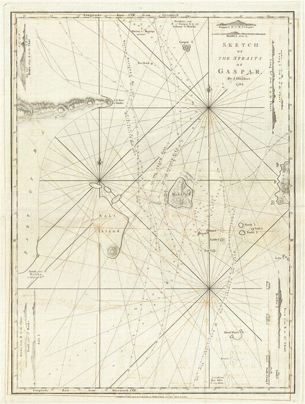 Sketch of the Straits of Gaspar. - Main View