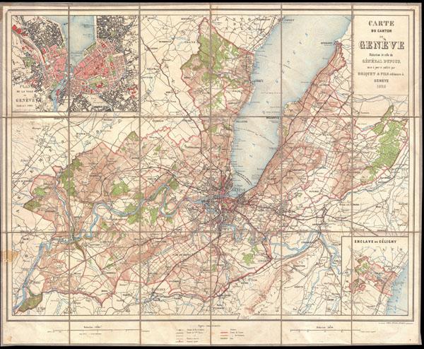 Carte du Canton de Geneve