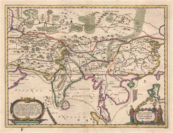 1667 Kircher Map of Asia