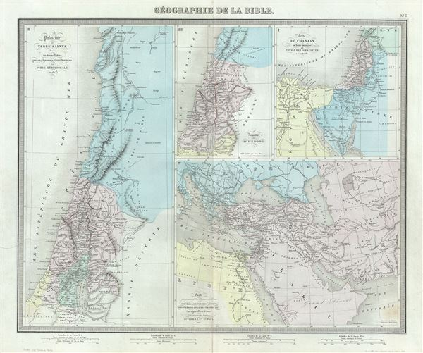 Geographie de la Bible. - Main View