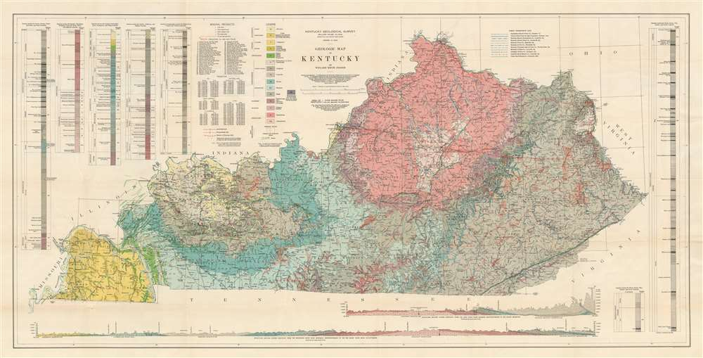1929 Jillson Geological Map of Kentucky