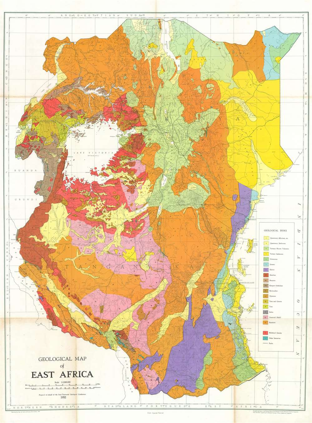 Geological Map of East Africa. - Main View