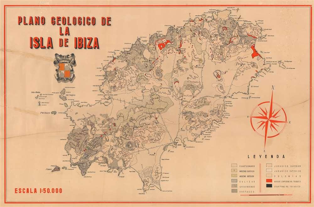 Plano Geologico de la Isla de Ibiza