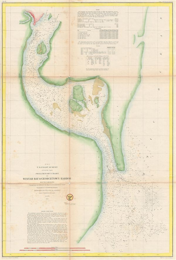 (E No. 2)  Preliminary Chart of Winyah Bay & Georgetown Harbor South Carolina.