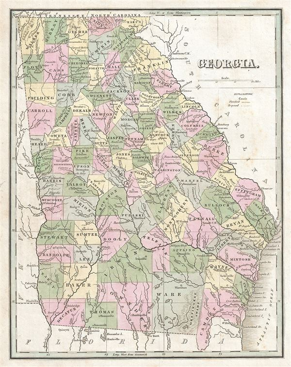 Georgia Geographicus Rare Antique Maps