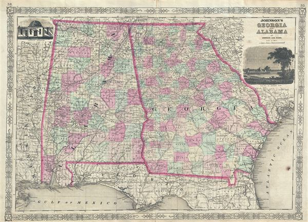 Johnson's Georgia and Alabama. - Main View