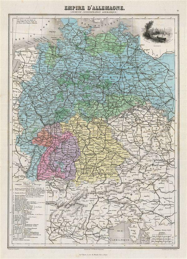 Empire d'Allemagne (Ancienne Confederation Germanique).