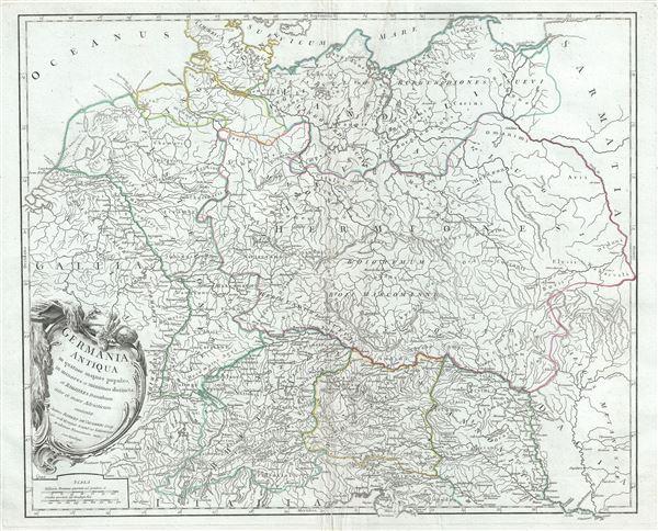 Germania Antiqua in quatuor magnos populos, in minores et minimos distincta, et Regiones Danubium inter et mare Adriaticum contentae.