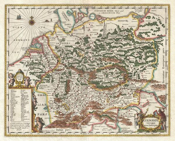 Germaniae Veteris Nova Descriptio. - Main View