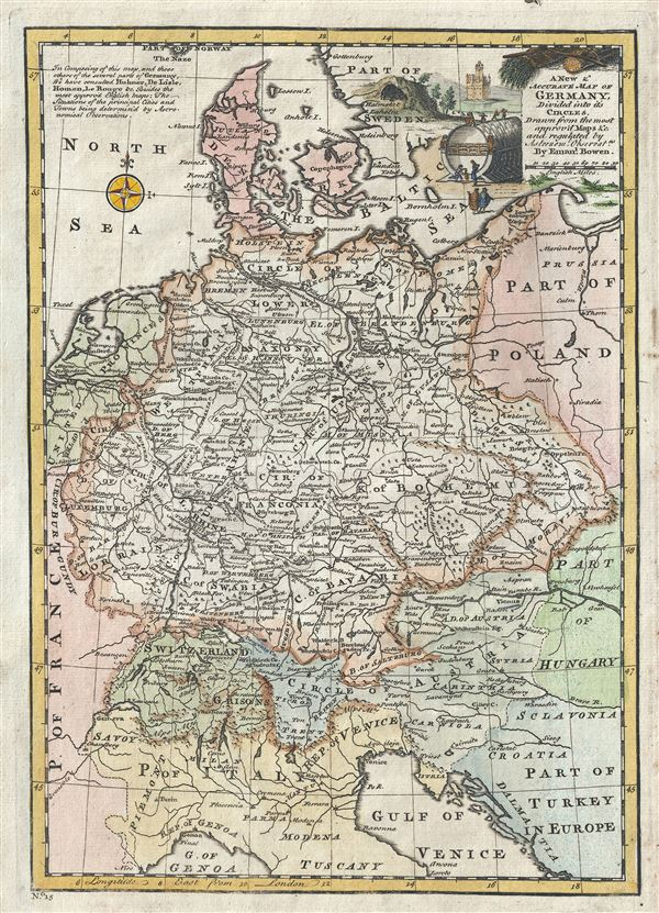 A New and Accurate Map of Germany Divided into its Circles. - Main View