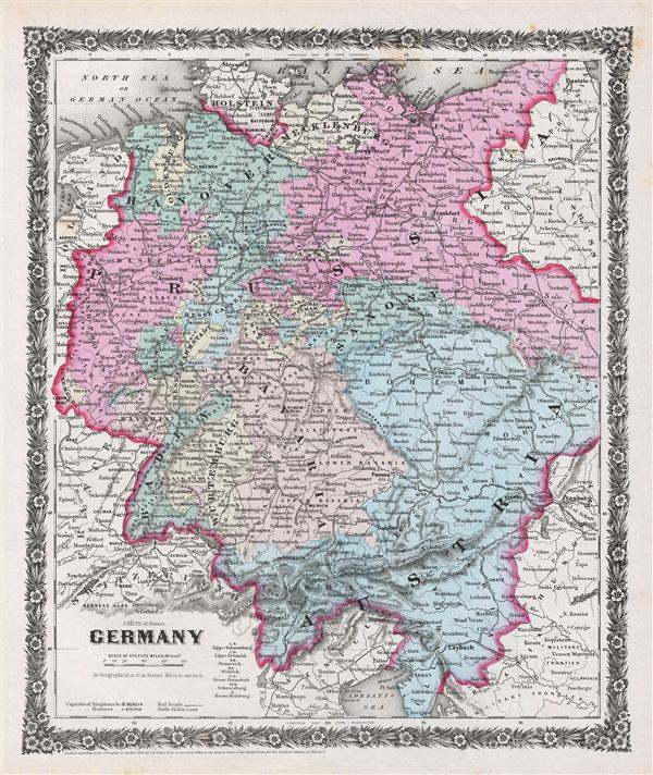 Map Of Arizona 1858.Germany Geographicus Rare Antique Maps