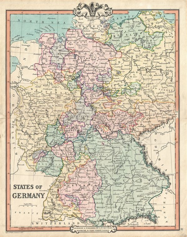 States Of Germany Geographicus Rare Antique Maps