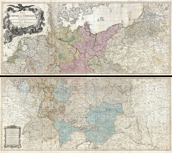 1794 Delarochette Wall Map of the Empire of Germany