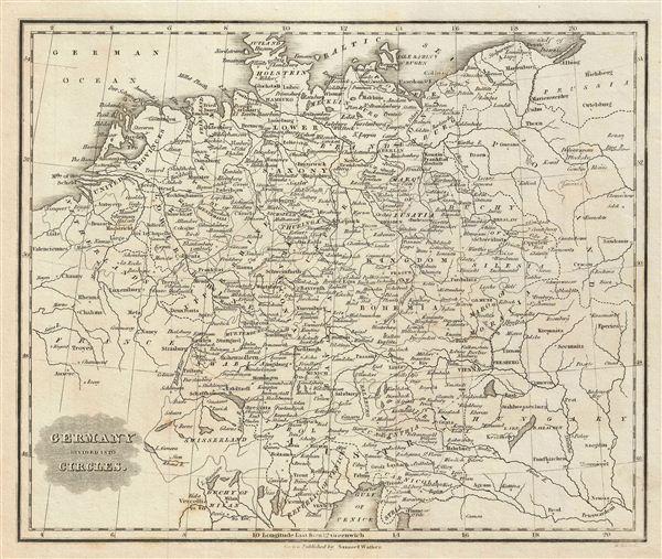 Germany Divided into Circles.