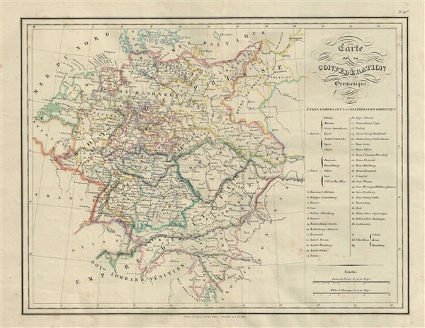 Carte de la Confederation Germanique.