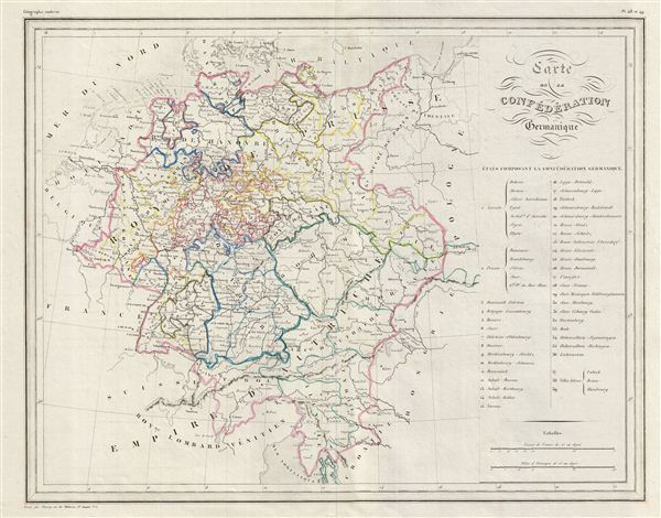 Carte de la Confederation Germanique. - Main View
