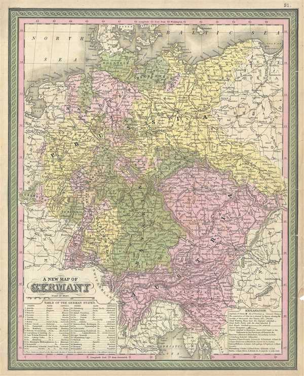 A New Map of Germany. - Main View