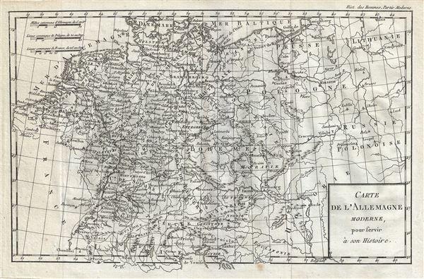 Carte de l'Allemagne Moderne.