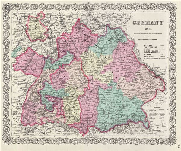 Germany No 3 Geographicus Rare Antique Maps – Map Southern Germany
