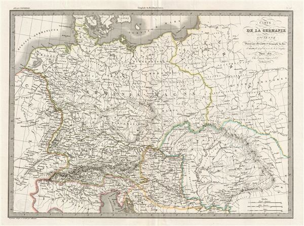 Carte de la Germanie Ancienne.
