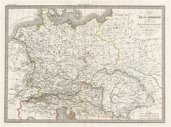 Carte de la Germanie Ancienne. - Main View