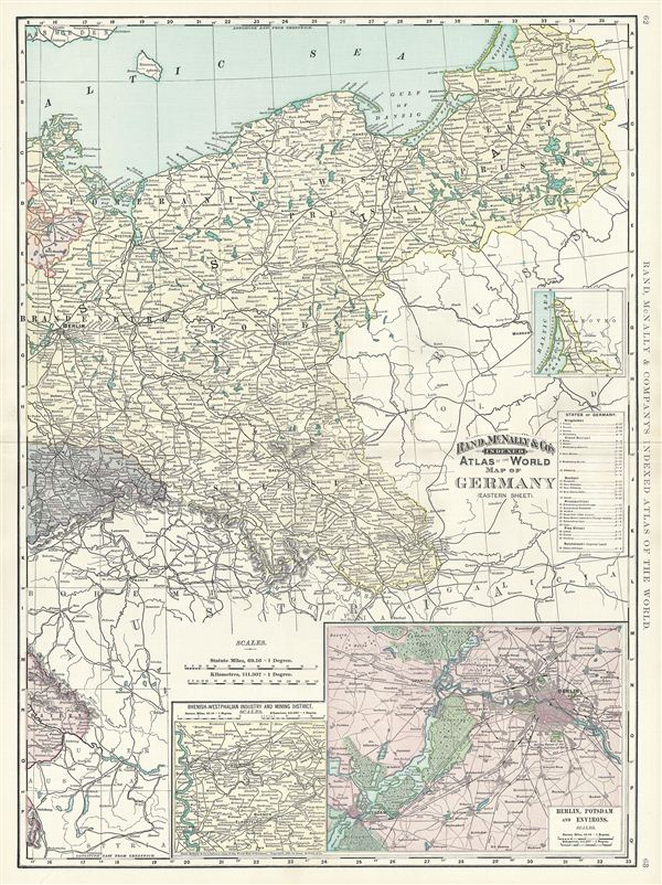 Map of Germany (Eastern Sheet).
